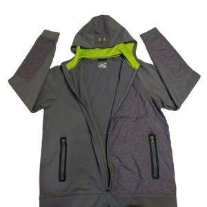 UNDER ARMOUR gray zip up hoodie